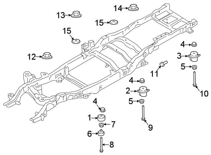 Ford F-250 Super Duty Body Mount Cushion. BODY MOUNTING