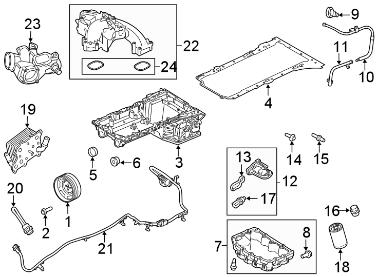 Ford F-250 Super Duty Engine Intake Manifold Gasket. 6.7