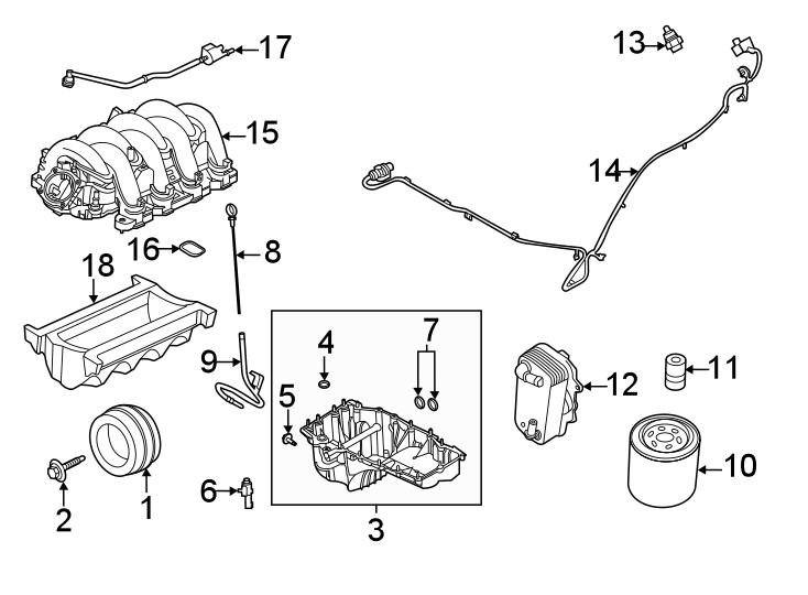 Ford F-250 Super Duty Engine Intake Manifold. 7.3 LITER