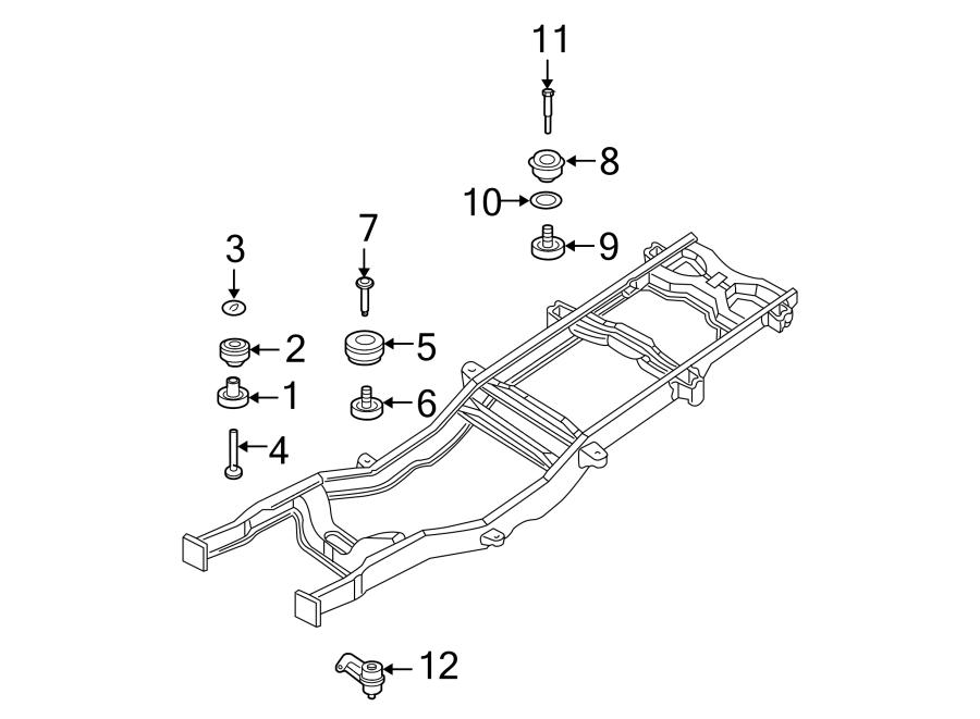 Ford F-550 Super Duty Body Mount Cushion Bolt (Rear