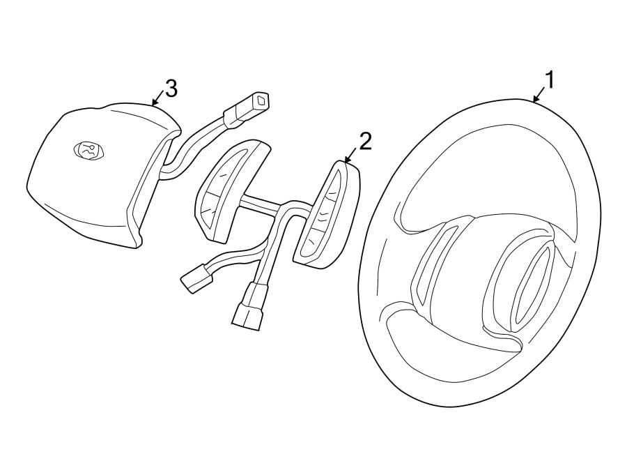 Ford F-250 Super Duty Steering Wheel. W/cruise control