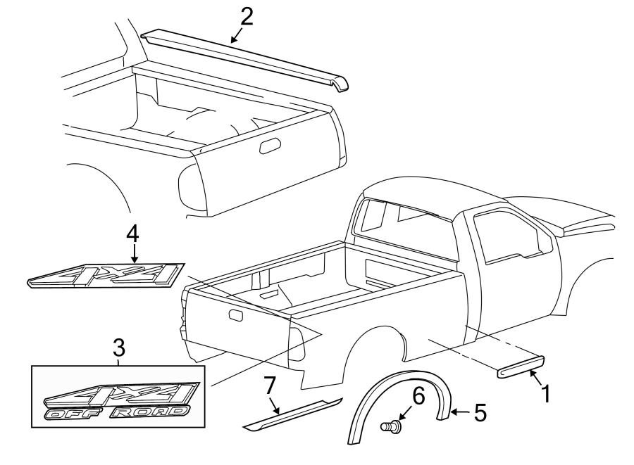 Ford F-550 Super Duty Pickup Box Decal. BODY SIDE, 4x4