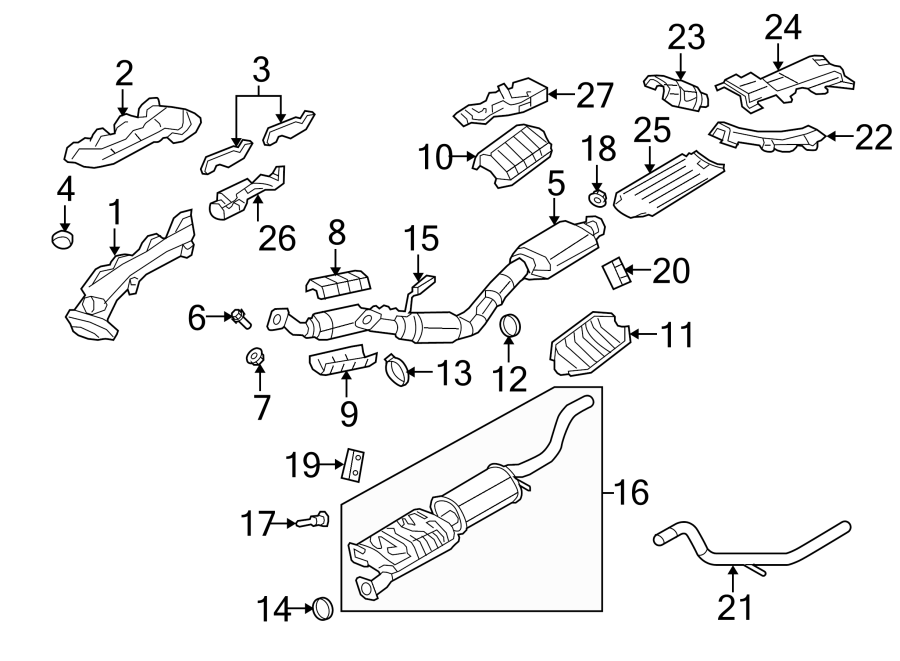 Ford Explorer Exhaust Manifold. Right, LITER, SYSTEM