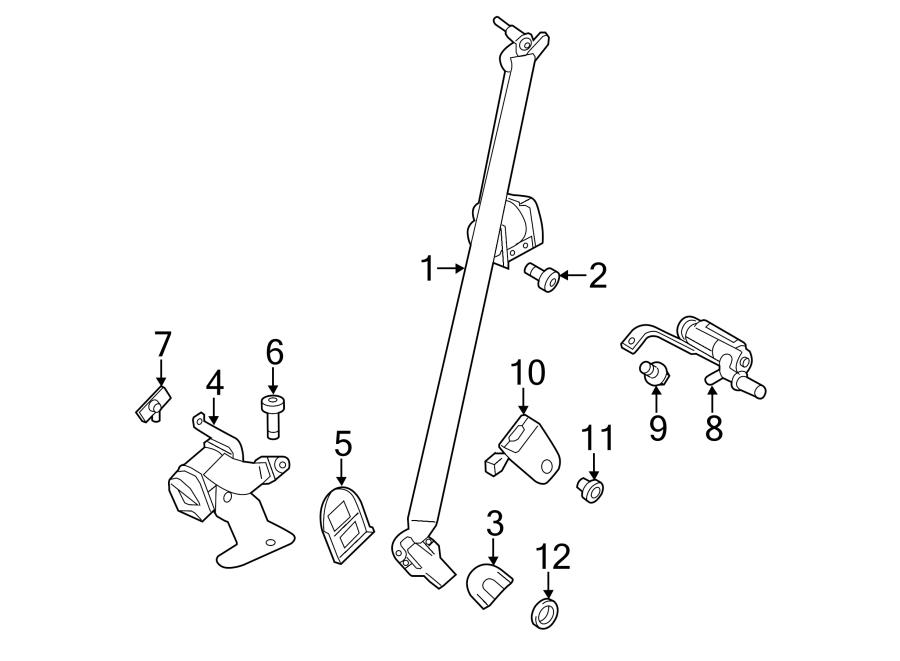 Ford Explorer Seat Belt Receptacle Bolt. BUCKET, W