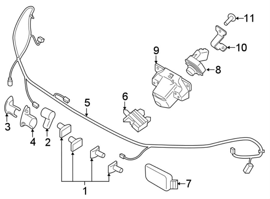 Ford Police Interceptor Utility Parking Aid System Wiring
