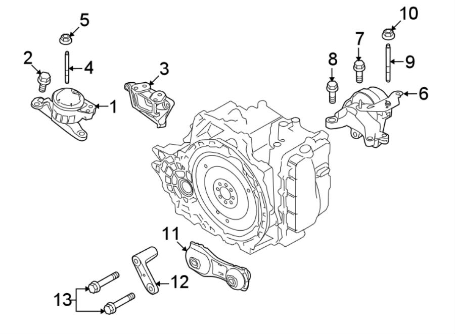 Ford Explorer Engine Support Rod. LITER, Arm, Lower