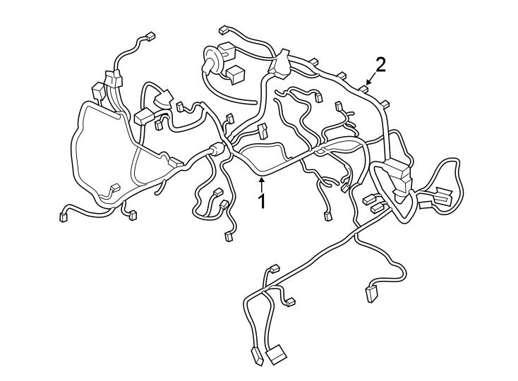 Ford Police Interceptor Utility Engine Wiring Harness