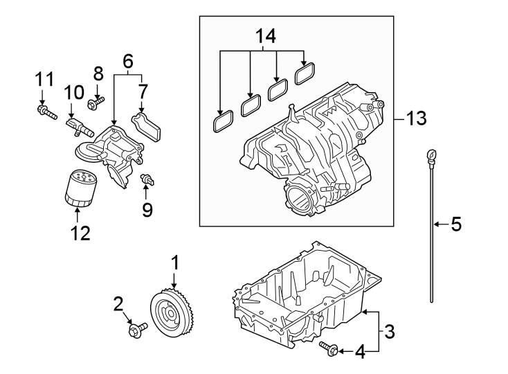 Ford Explorer Engine Oil Pressure Switch. LITER, Sensor