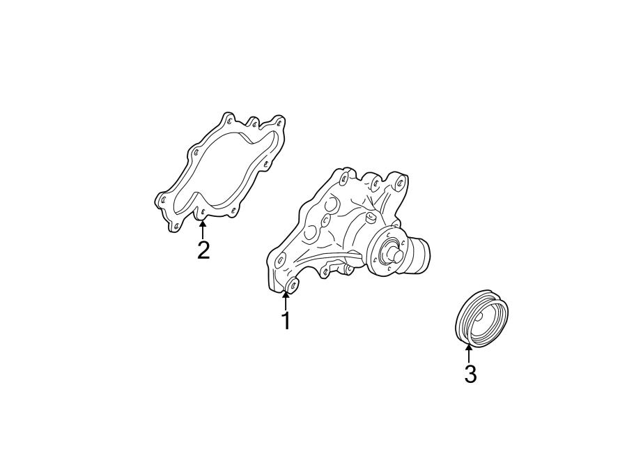 Ford Explorer Engine Water Pump. COOLING, Make