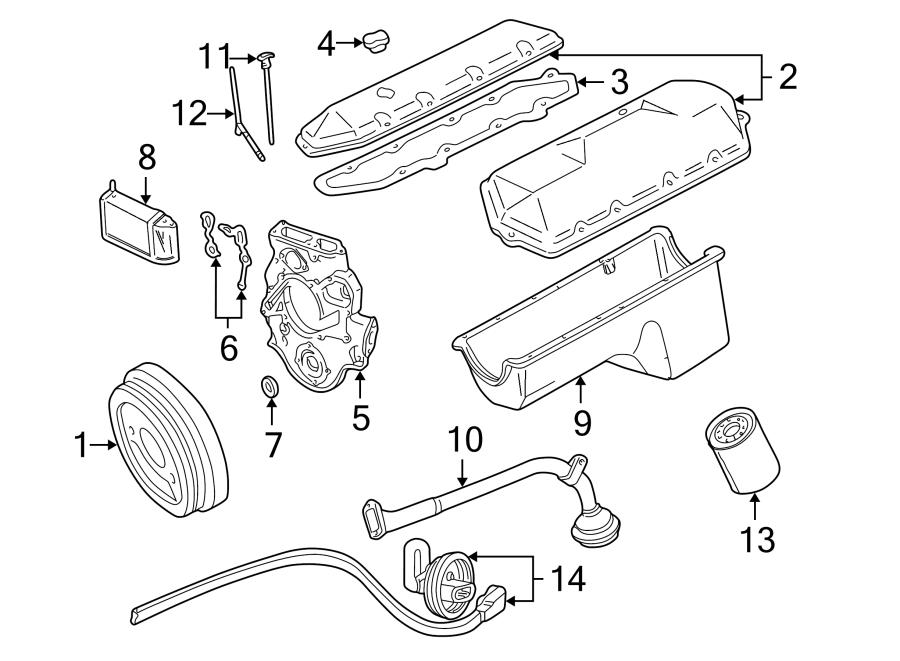 Ford F-250 Engine Crankshaft Seal (Front). 7.3 LITER TURBO
