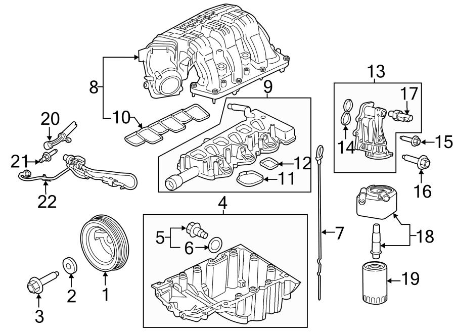 Ford Mustang Engine Intake Manifold. MANIFOLD ASSEMBLY