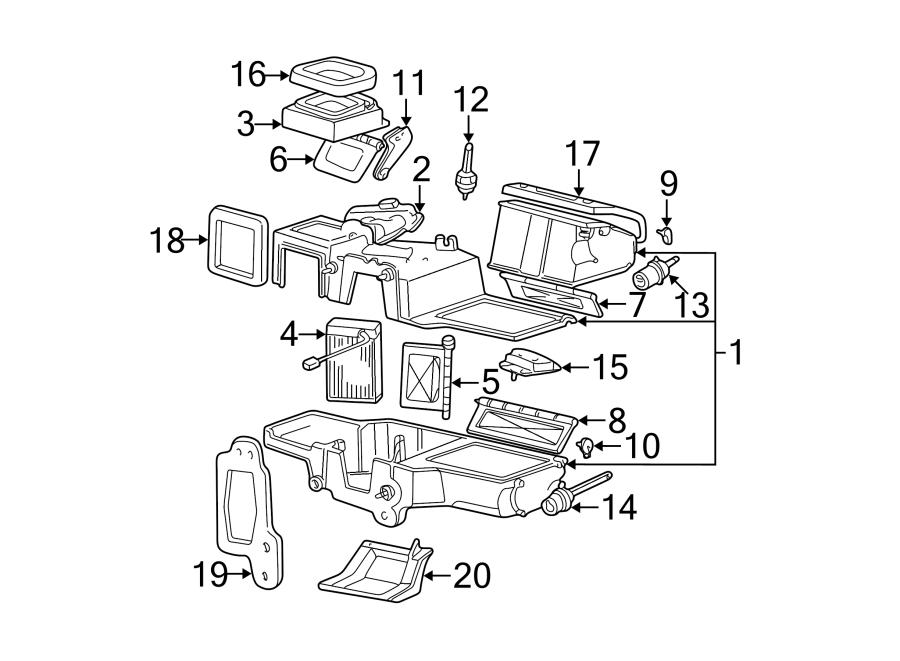 Ford Explorer Sport Trac Hvac floor mode door actuator