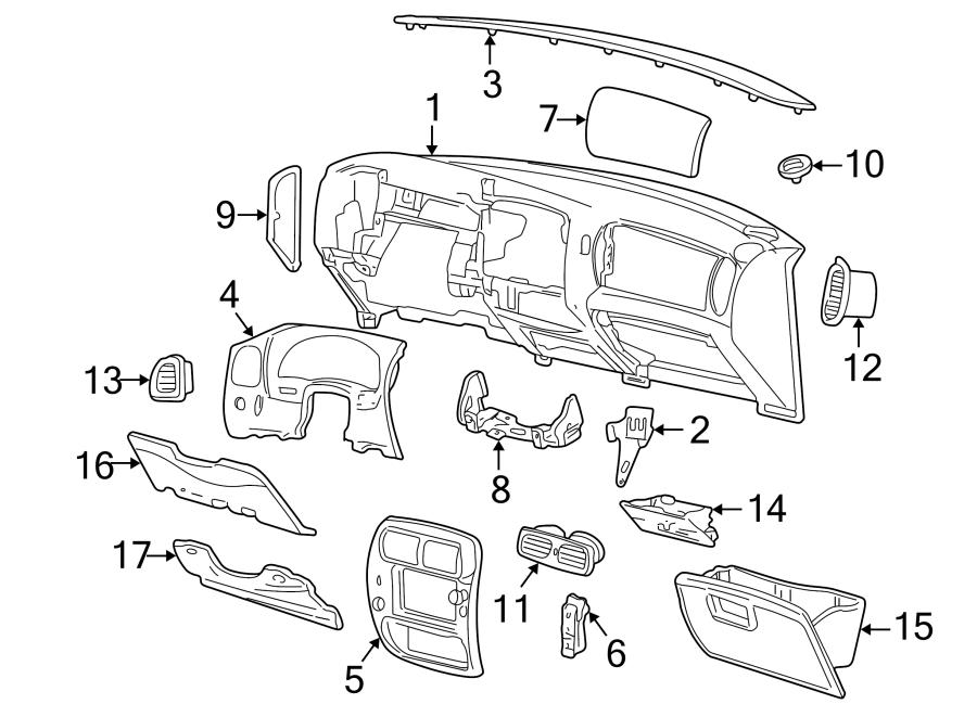 Ford Explorer Sport Trac Dashboard Air Vent. Outer, flint