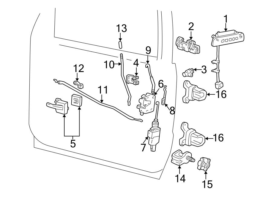 Ford Explorer Sport Trac Door Lock Actuator Motor. FRONT