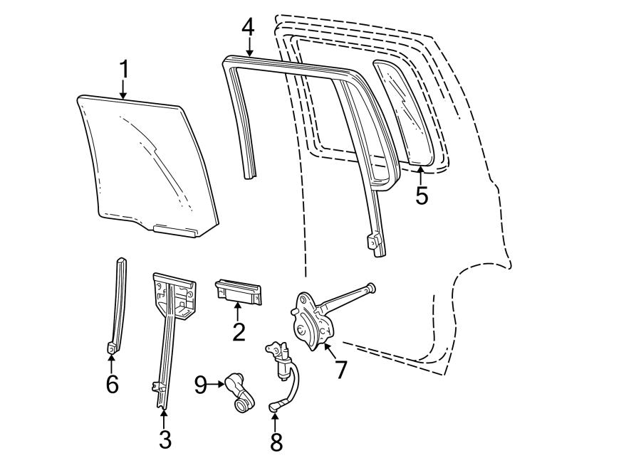 Ford Explorer Sport Trac Power Window Motor