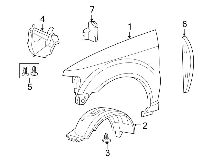Ford Explorer Sport Trac Fender Liner Extension. ADRENALIN