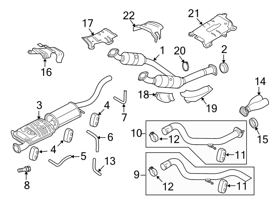 Ford Explorer Sport Trac Clamp. Shield. Converter. (Lower