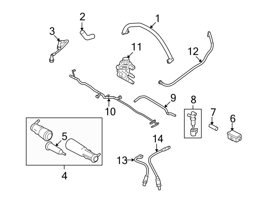 Ford Explorer Sport Trac Pcv valve hose. 4.6 liter. 4.6