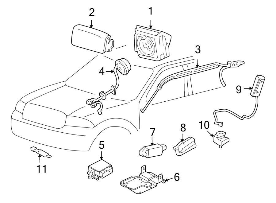 Ford Explorer Sport Trac Air Bag Impact Sensor. Door