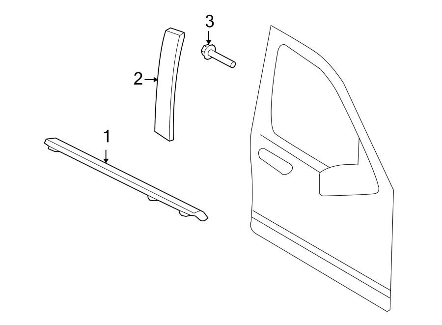 Ford Explorer Sport Trac Molding. DOOR. (Rear, Upper). W