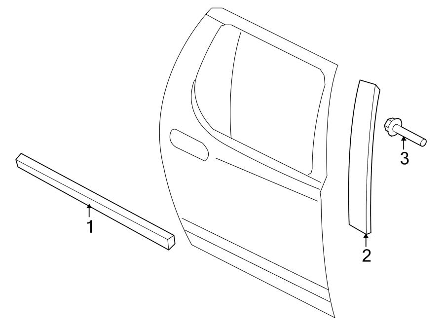 Ford Explorer Sport Trac Door Window Belt Weatherstrip