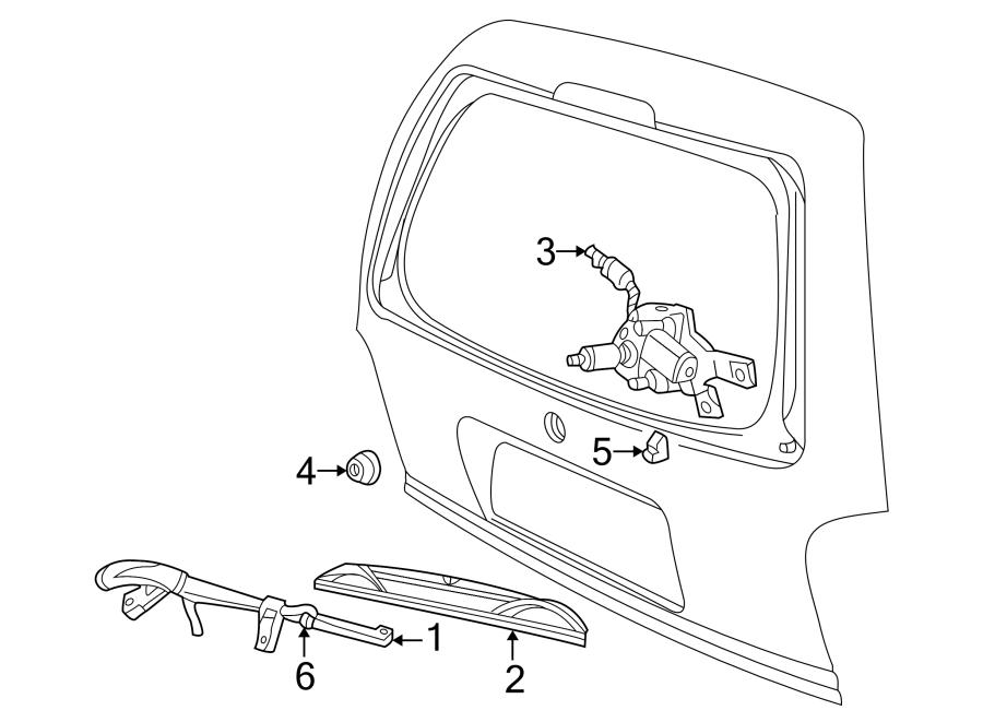 Ford Explorer Sport Back Glass Wiper Arm. All. Explorer