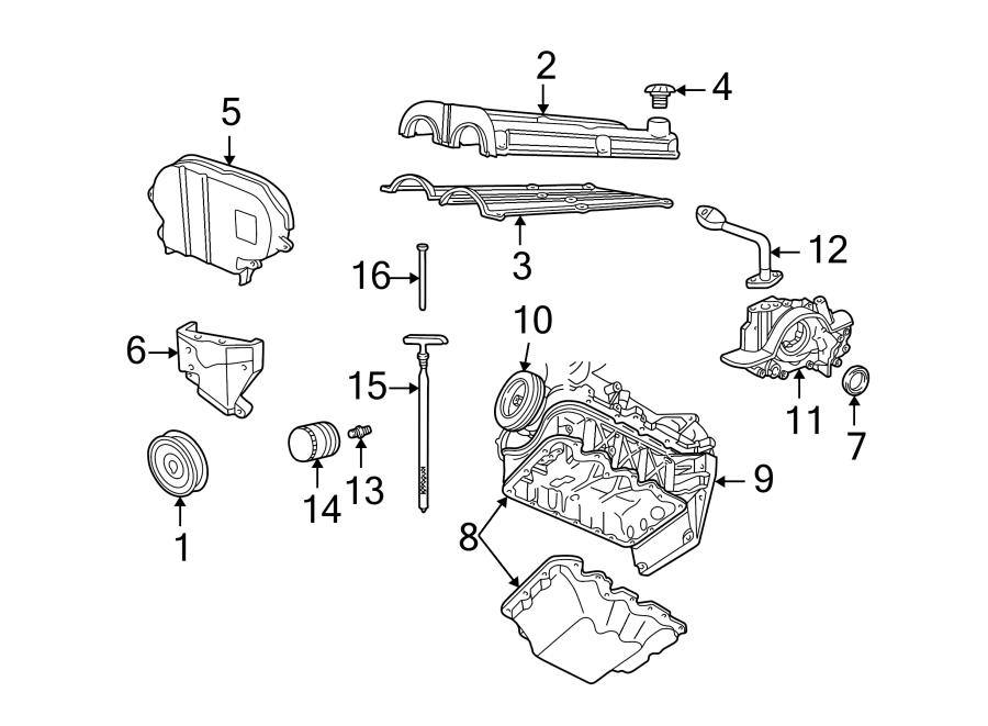 Mercury Cougar Engine Crankshaft Seal. 2.0 LITER. 2.0L