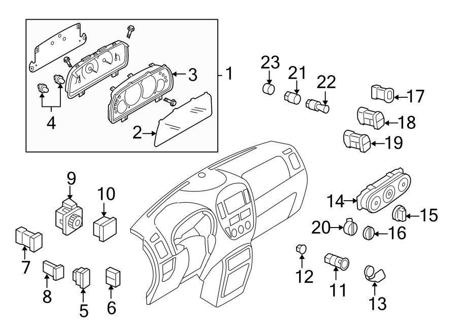 Ford Escape Instrument Cluster. INSTRUMENT CLUSTER