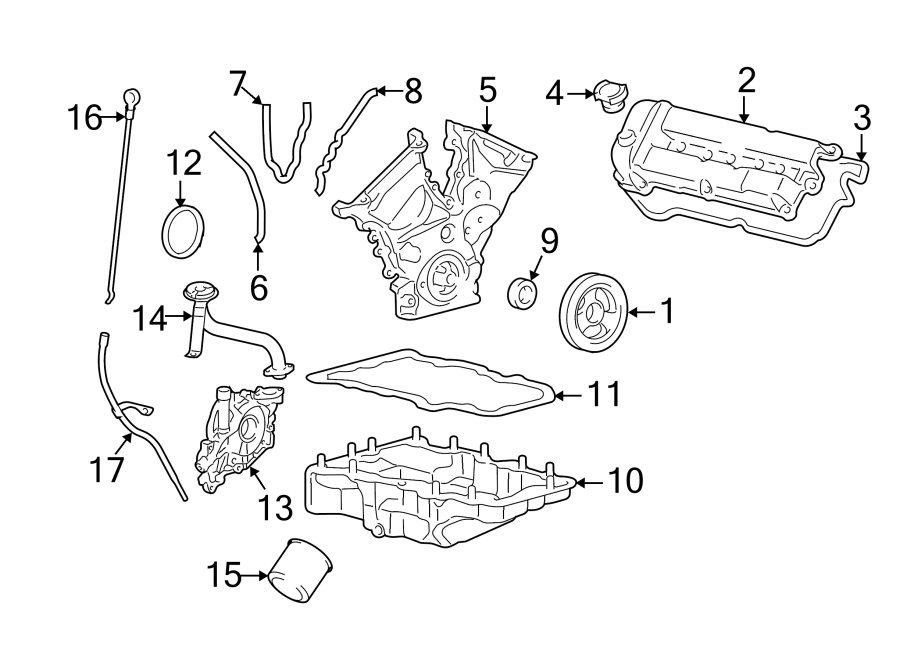 Ford Escape Engine Timing Cover (Front). 2.5 LITER. 3.0