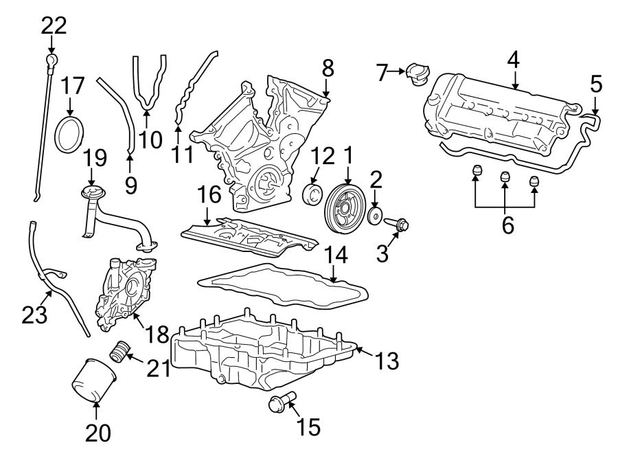 Ford Escape Engine Crankshaft Seal. LITER, Front, TIMING