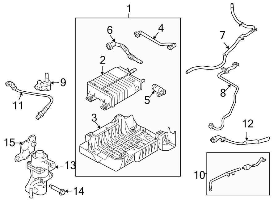 Ford Escape Oxygen Sensor. EMISSION, Manual, Make