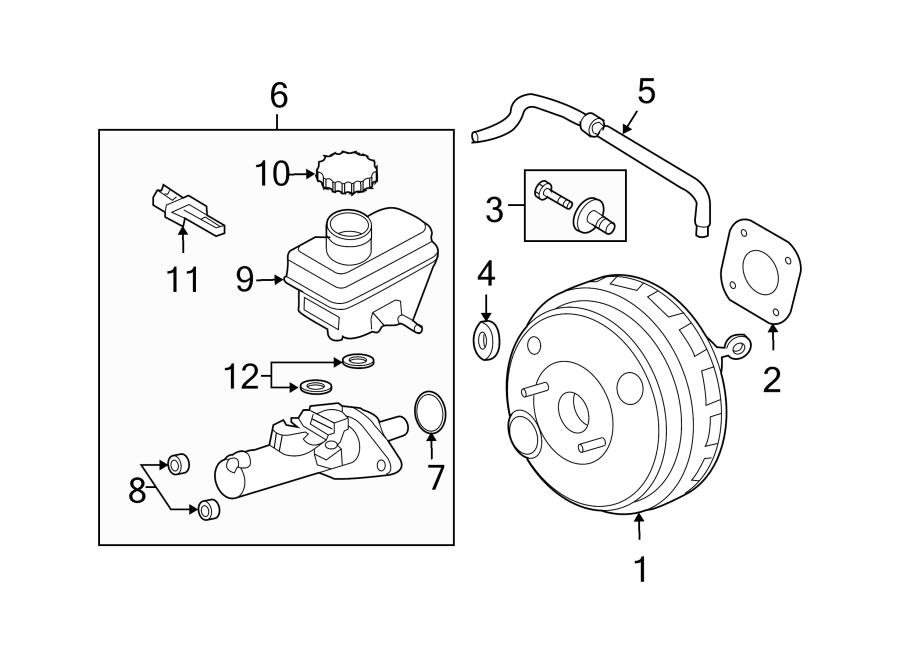 Ford Escape Brake Master Cylinder. Brakes, Disc, Leak