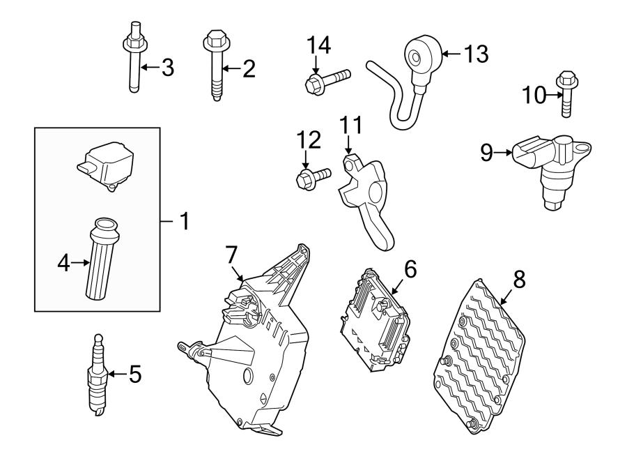 Ford Escape Engine Control Module Cover. 1.5 LITER. 2.0