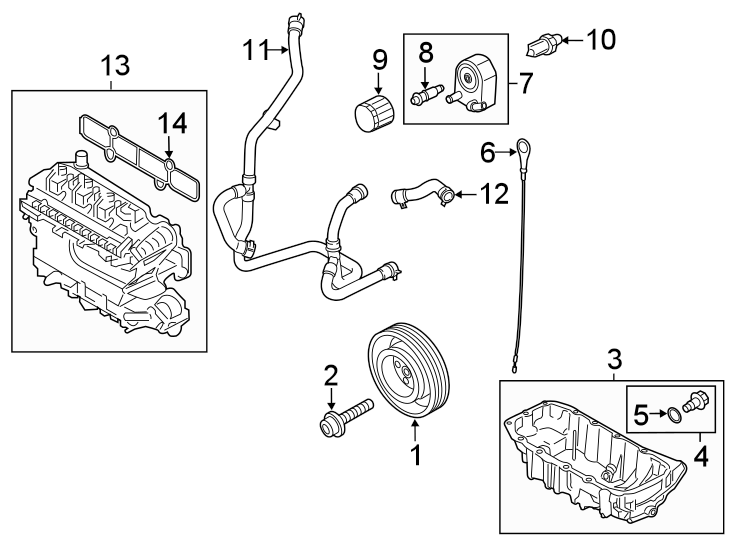 Ford Escape Engine Crankshaft Pulley Bolt. 1.5 LITER