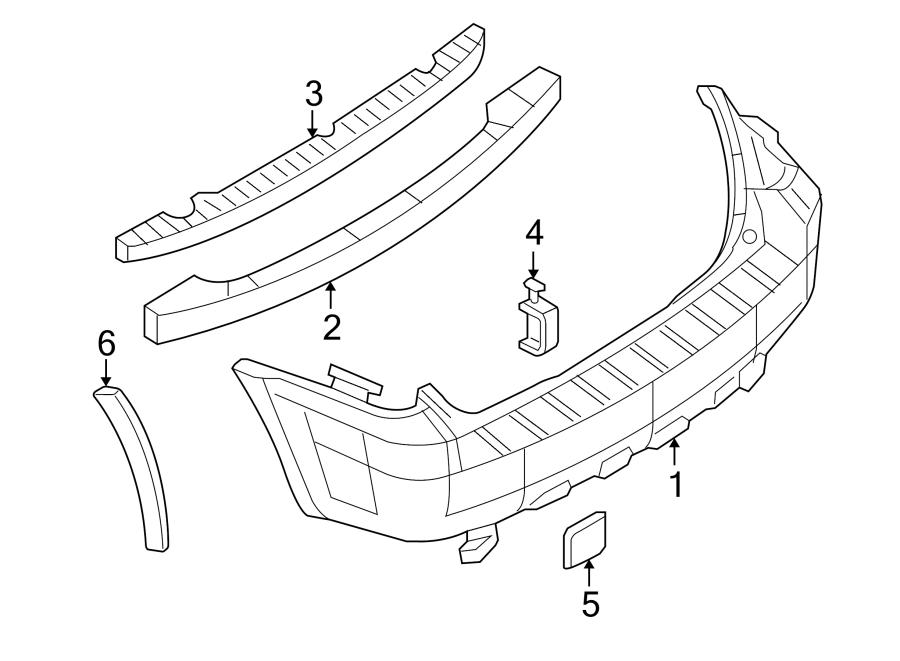 Ford Escape Wheel Arch Molding. 2001-04, medium platinu