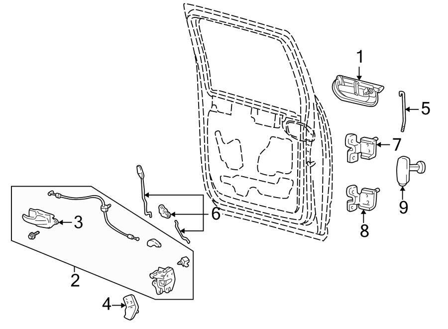 Ford F-250 Super Duty Door Lock Actuator Motor
