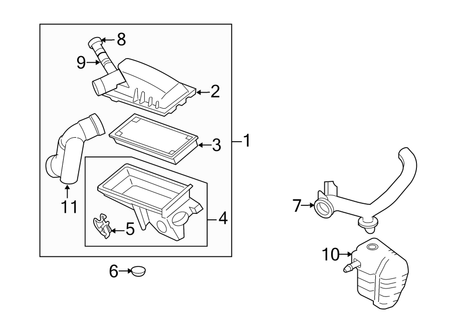 Mercury Mariner Air Filter Housing. Engine, Cover, Upper