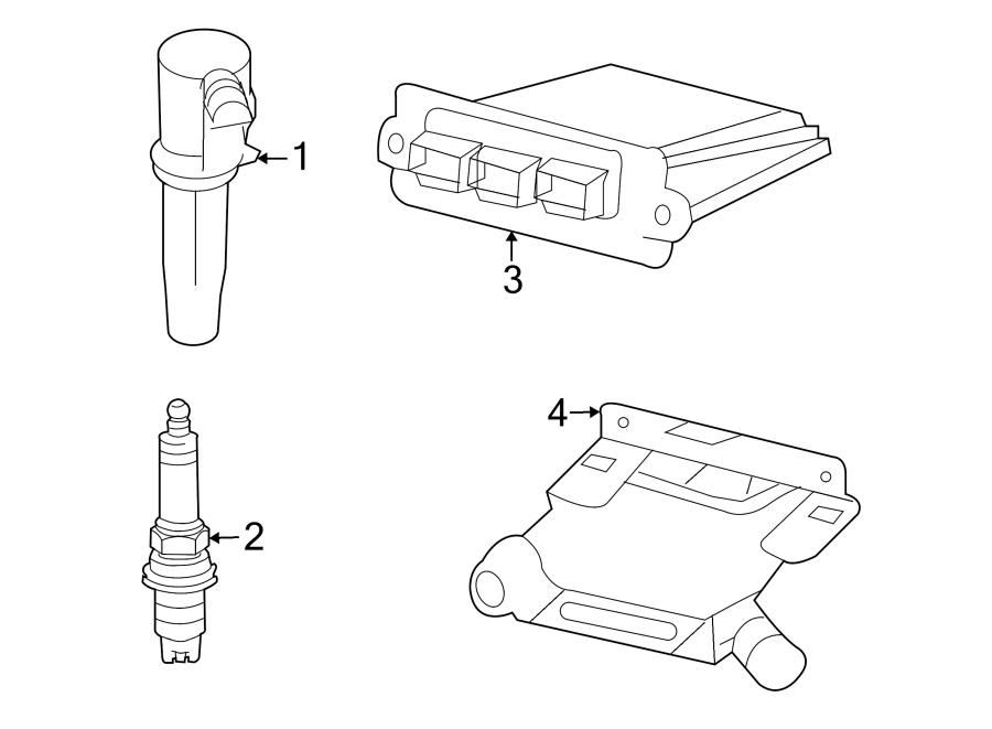 Mercury Mariner Spark Plug. 2.3 liter. IGNITION, SYSTEM