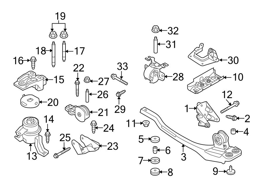 Mercury Mariner Engine Mount Bracket. 2.5 LITER, w/auto