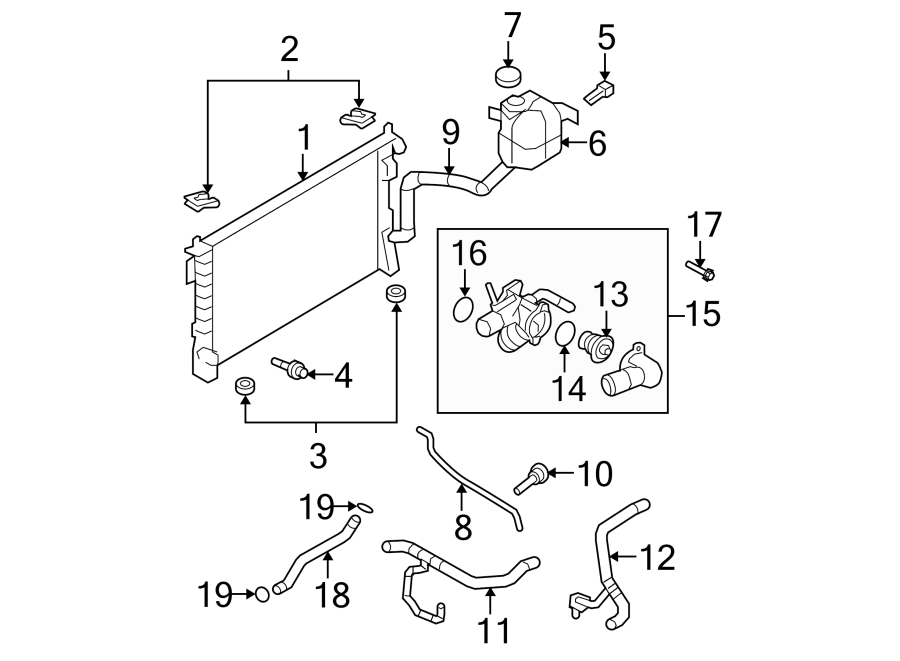 Ford Edge Radiator Coolant Hose (Upper). Edge, MKX; w