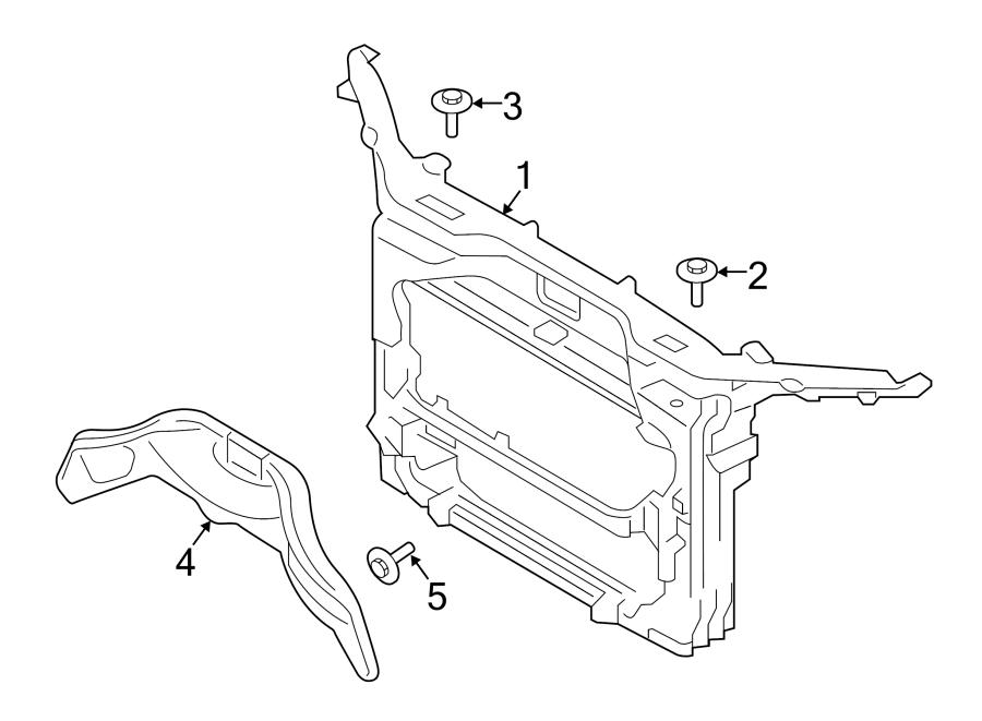 Ford Edge Radiator Support Panel. 3.5, 3.7 liter. Front