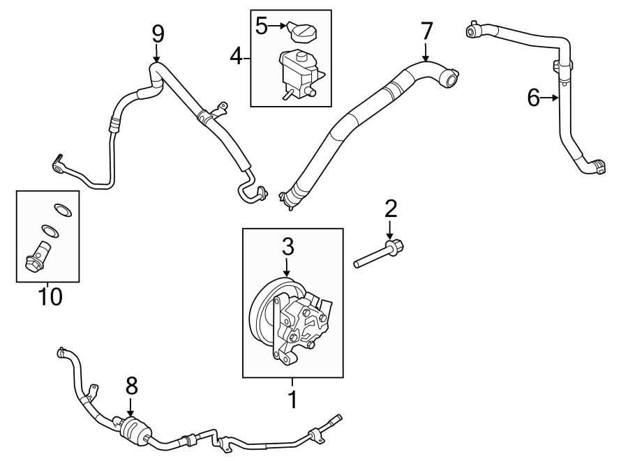 Ford Edge Power Steering Return Hose. Gear, HOSES, LITER