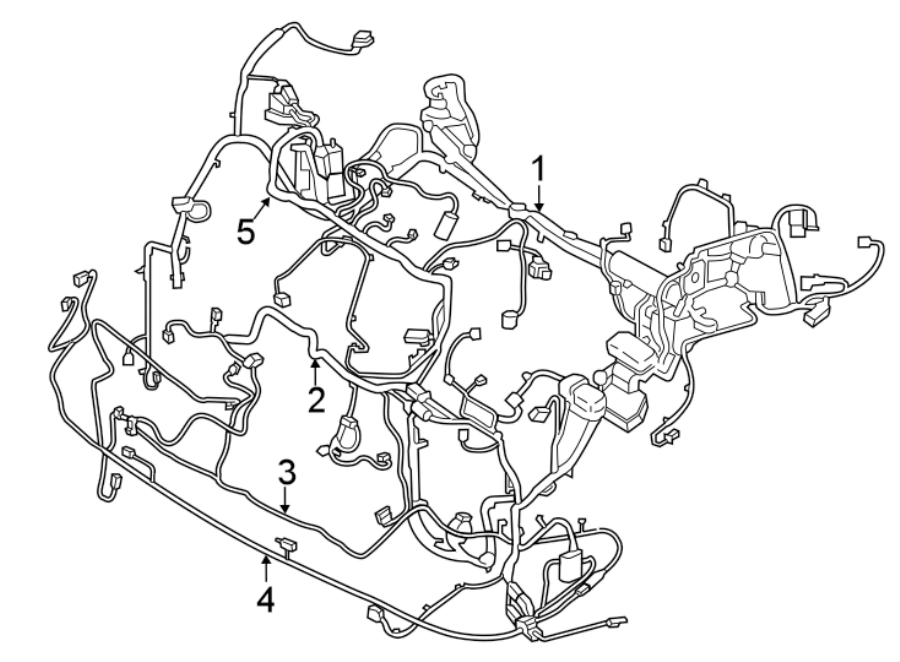 Ford Edge Wire assembly. Wire harness. Shutter, 2.0 liter