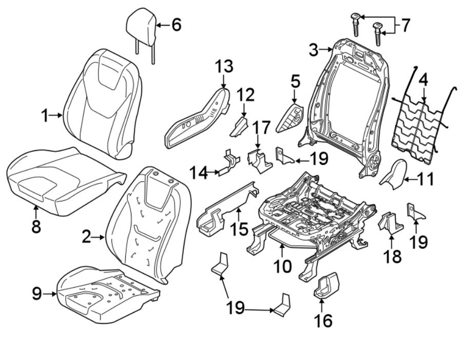 Ford Edge Seat Frame Trim Panel. PASSENGER SEAT-MANUAL