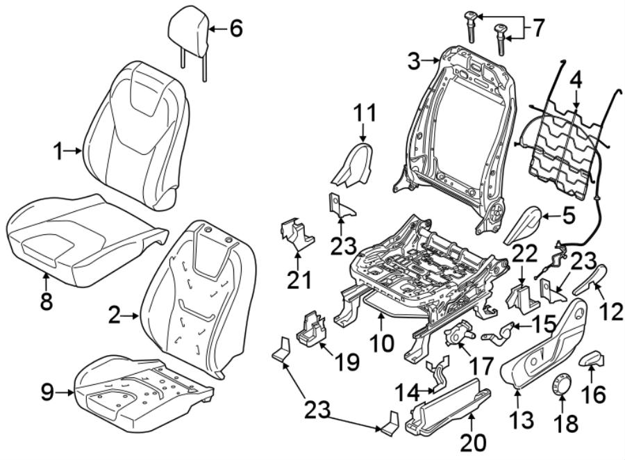 Ford Edge Seat Cushion Pad. DRIVER SEAT-MANUAL, to 04/27
