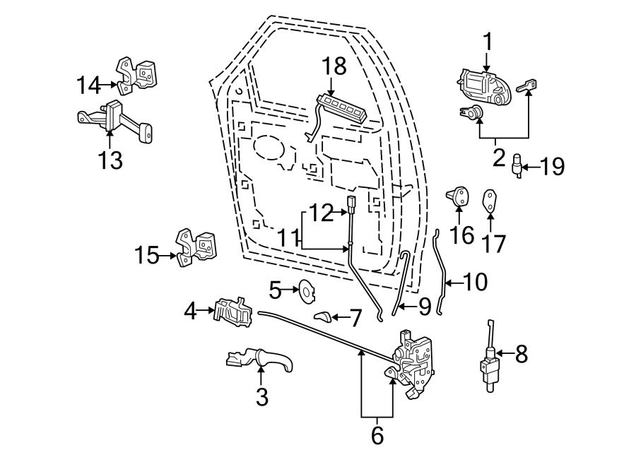 Lincoln Navigator Actuator. Lock. Motor. Door. Trunk