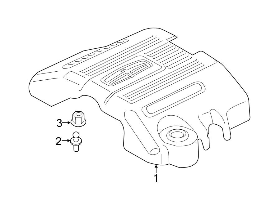 Lincoln Navigator Engine Cover. 3.5 LITER TURBO