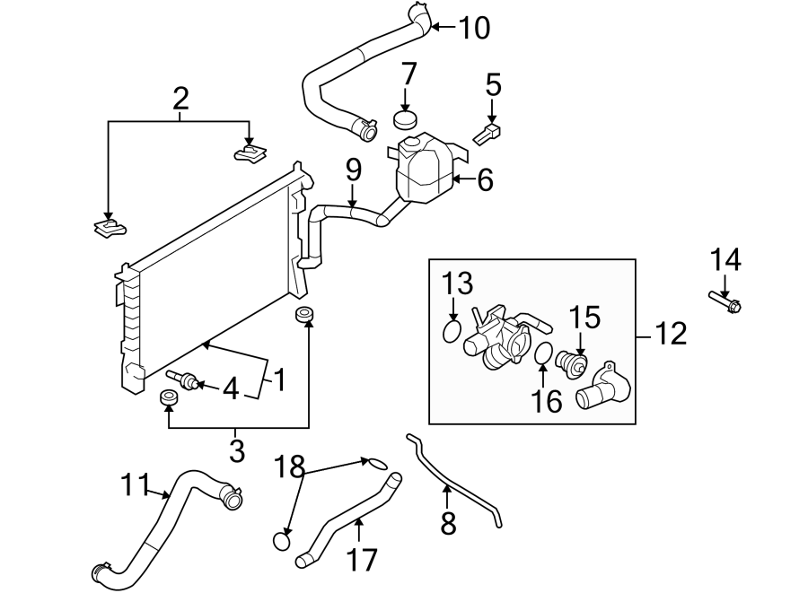 Lincoln MKX Engine Coolant Thermostat Kit. LITER, COOLING