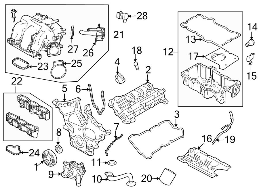 Mercury Milan Engine Intake Manifold Gasket (Lower