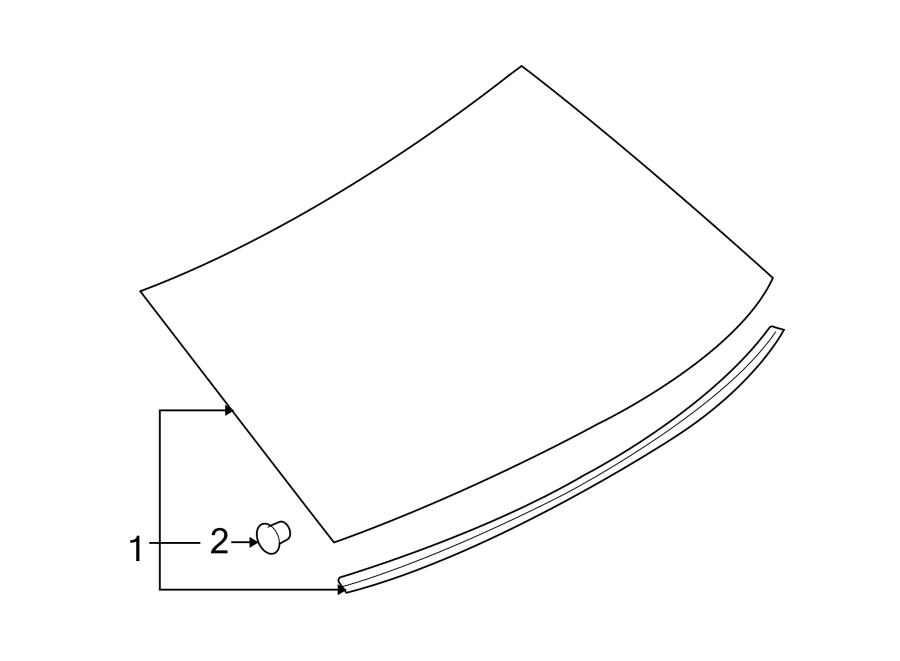 Mercury Milan Back Glass (Rear). FORD. FORD, w/antenna